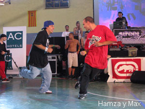House dancers Hamza y Max